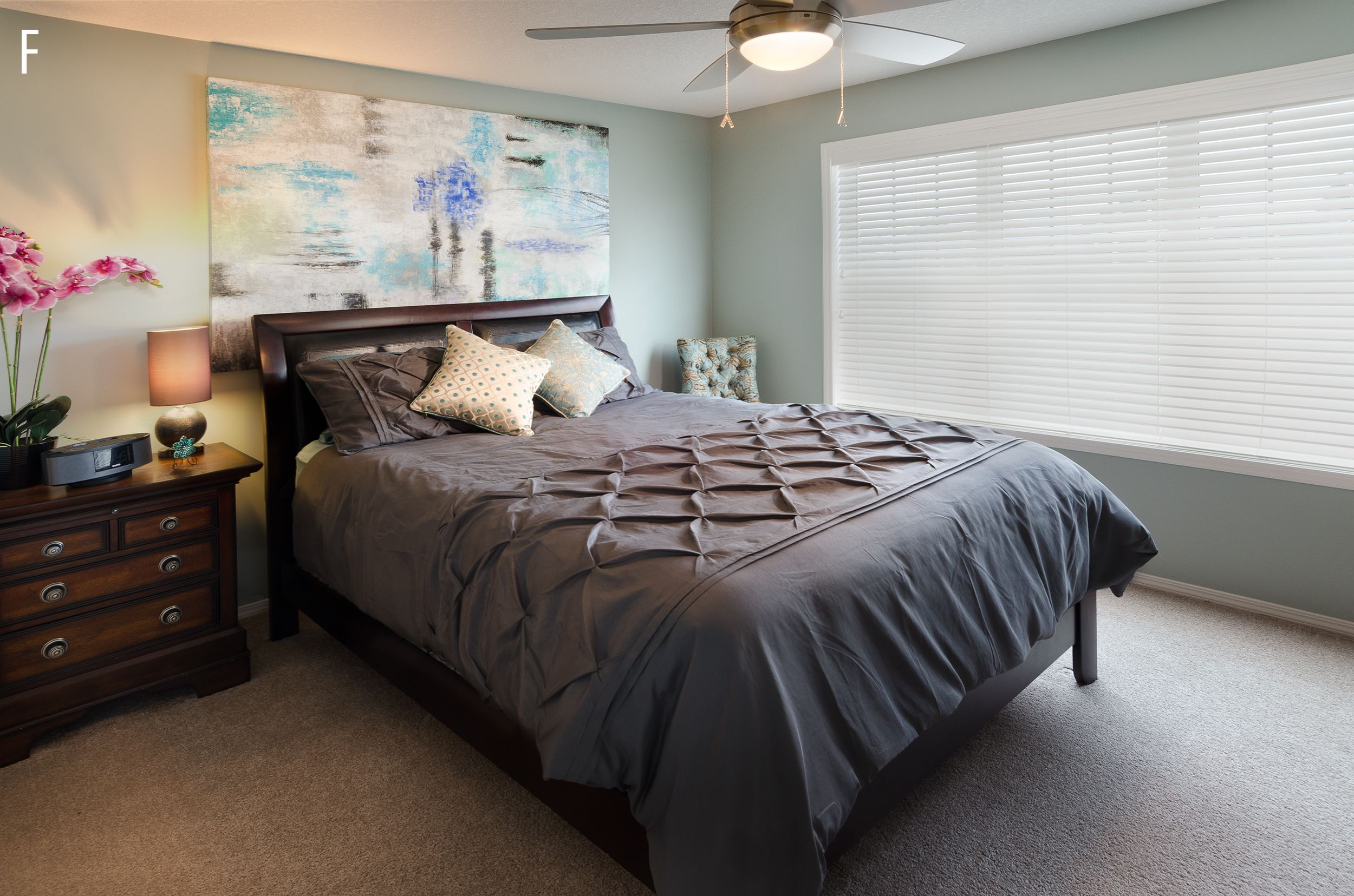 Best Private Residence Master Bedroom With A Light Teal Paint 640 x 480