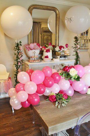 Balloon Birthday Party Pink Ballon birthday Party Theme Balloon