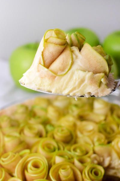 This Apple Rose Tart is a gorgeous addition to your dessert table. Filled with vanilla custard, it's simply stunning.