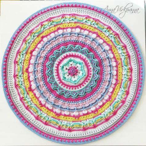 Unicorn Mandala Cal Del 5 Part 5 Haken Crochet Mandala En Unicorn