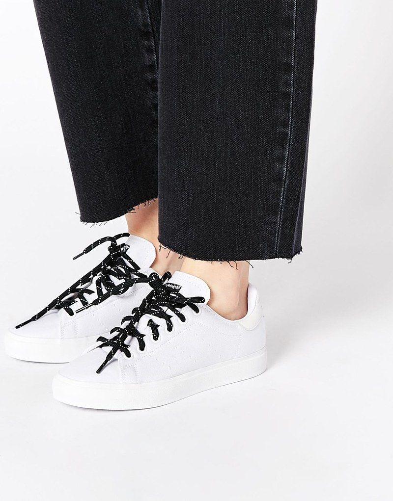 Adidas Originals Stan Smith Vulcano cestas Blanc blanc