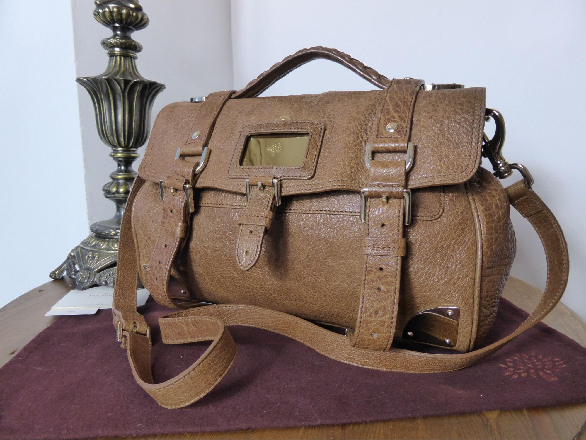 Mulberry Alexa Travel Day Bag In Oak Shiny Lambskin Leather Http Www Npnbags Co Uk Naughtipidginsnestshop Prod 4279375 Mul Lambskin Leather Day Bag Leather