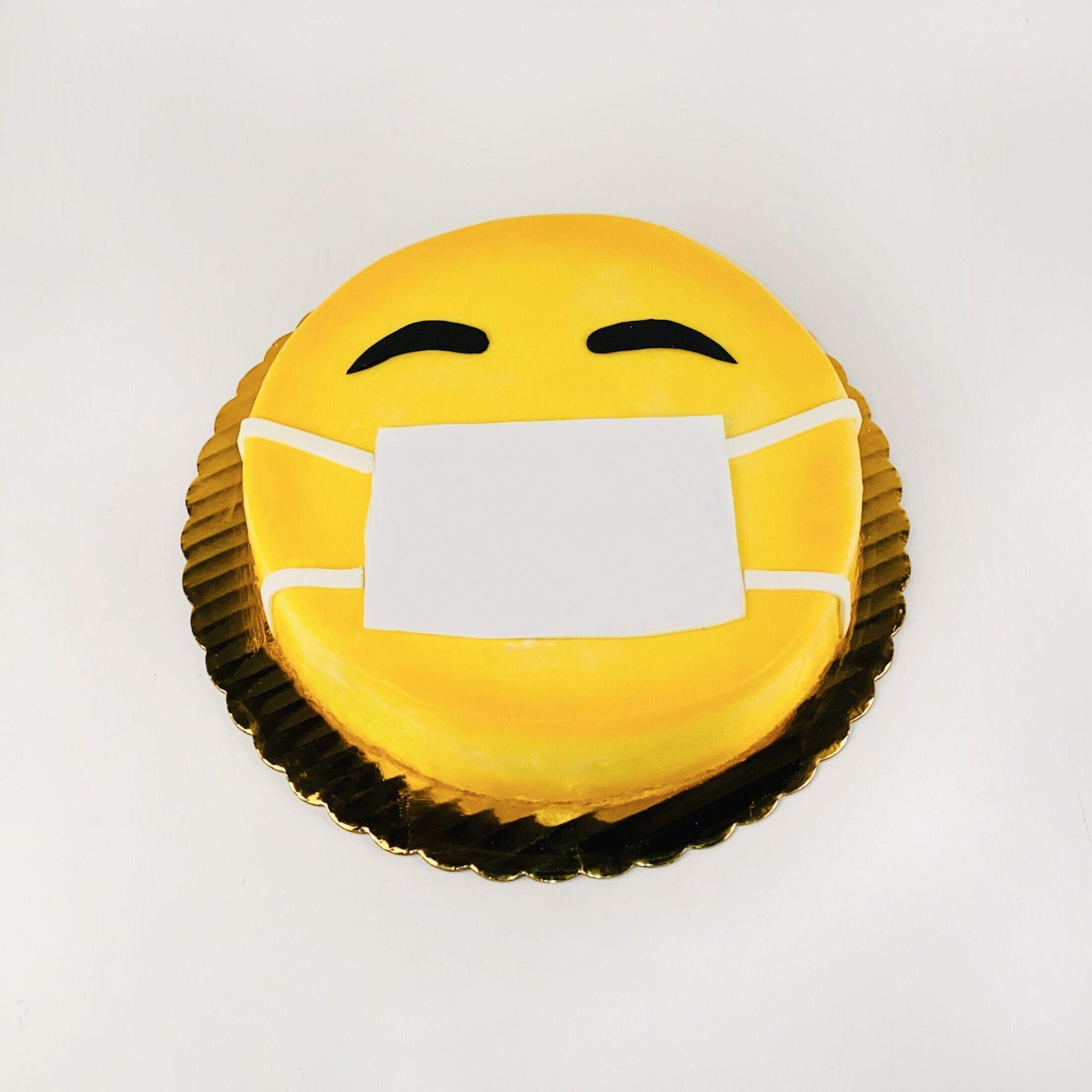 Face Mask Emoji In 2020 Emoji Cake Birthday Cake Kids Corona Cake