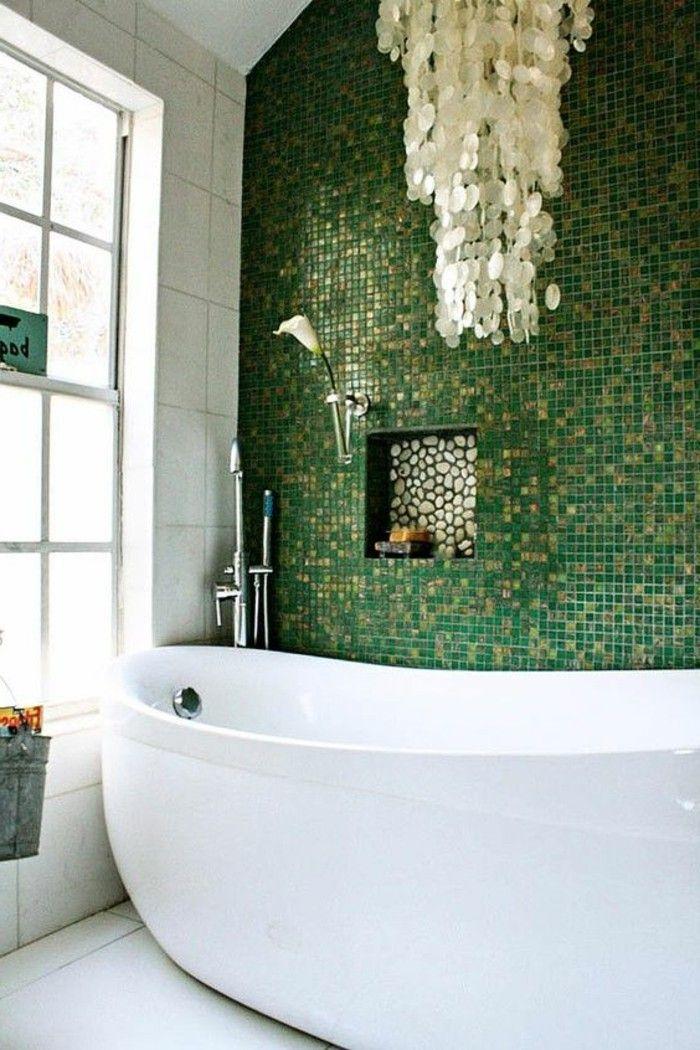 quelle couleur salle de bain choisir 52 astuces en photos vert pinterest salle de bain. Black Bedroom Furniture Sets. Home Design Ideas