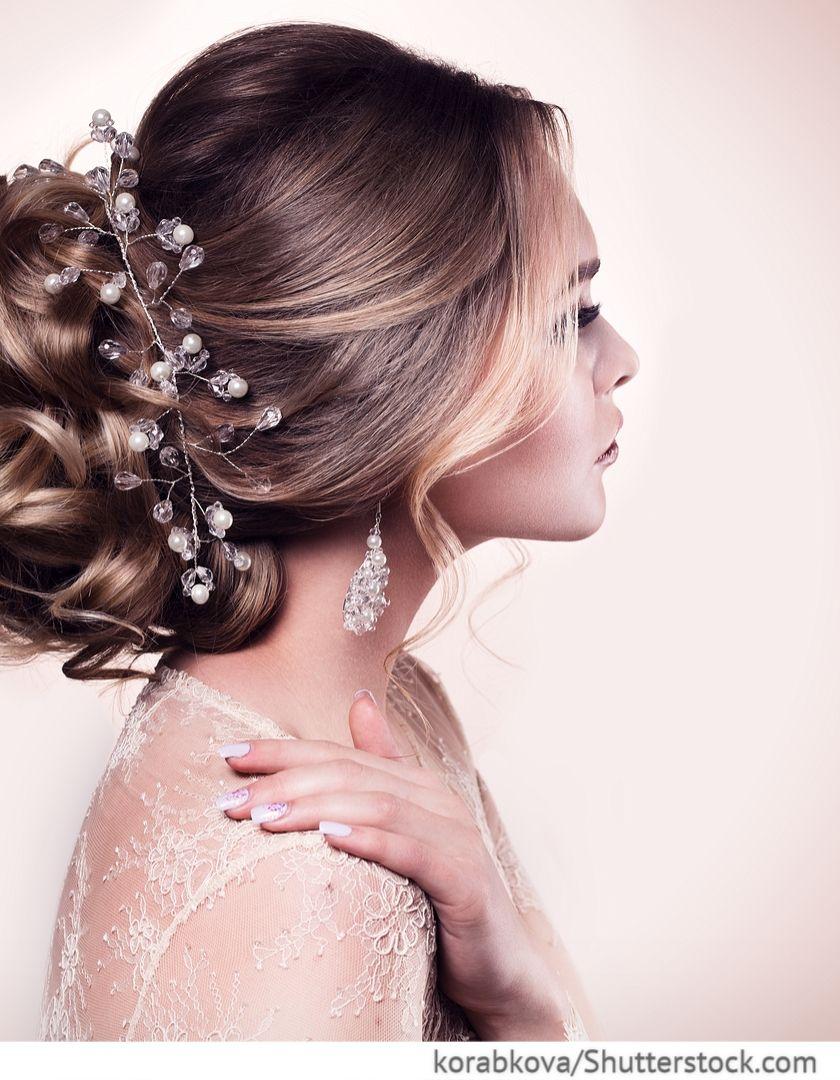 Frisur Fur Die Braut Mit Langem Haar Fur Russische Hochzeiten