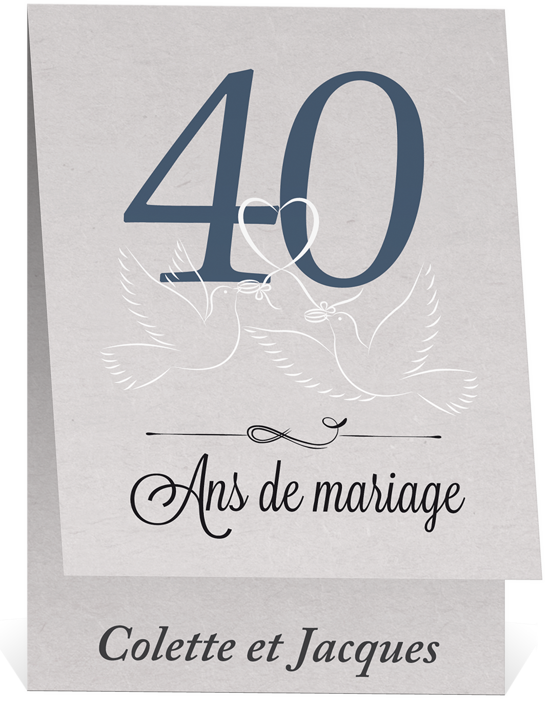 faire part 40e anniversaire de mariage. Black Bedroom Furniture Sets. Home Design Ideas