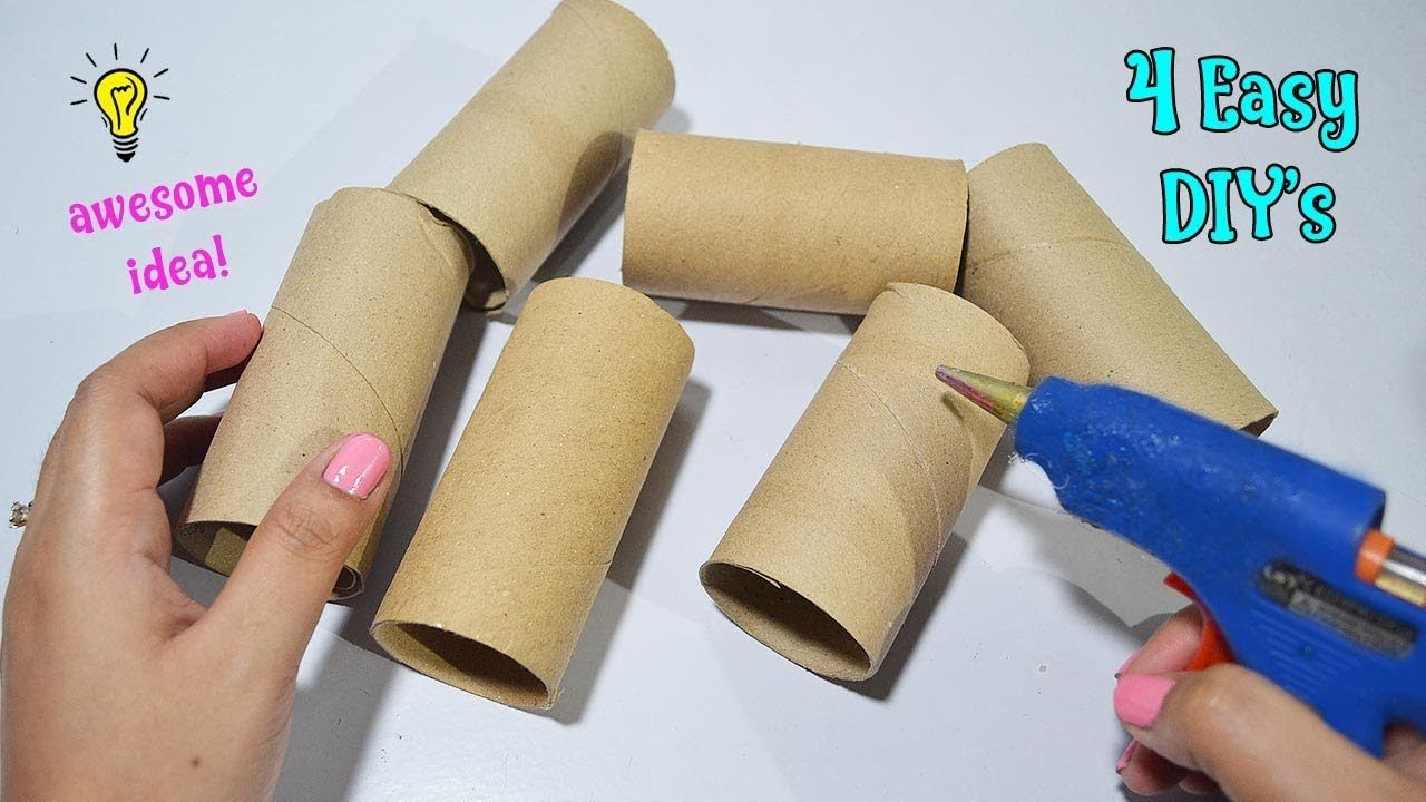 4 Ways To Reuse Recycle Empty Tissue Roll Best Out Of Waste