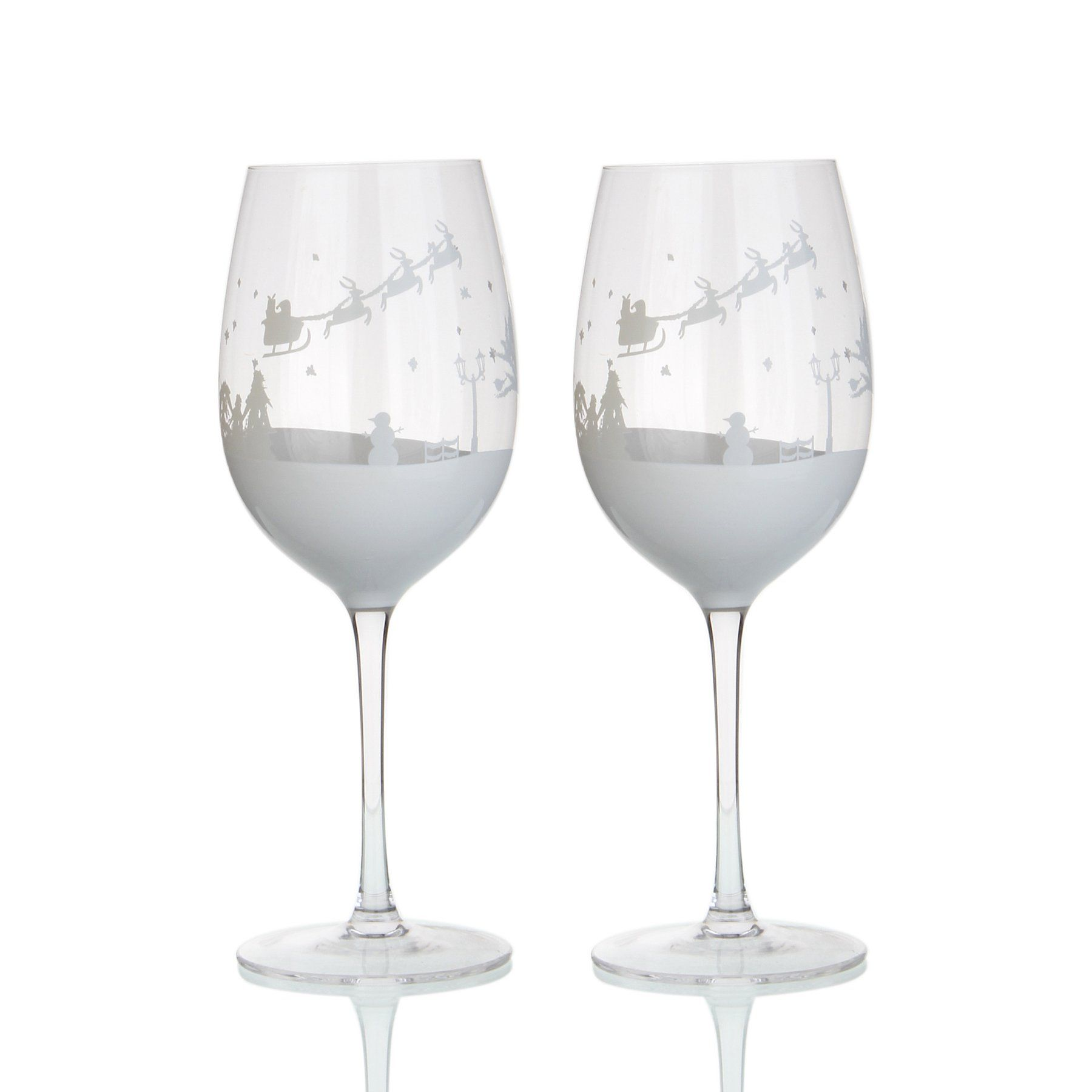 Snow Scene Wine Glasses 4 Pack George Wine Glasses Wine Snow