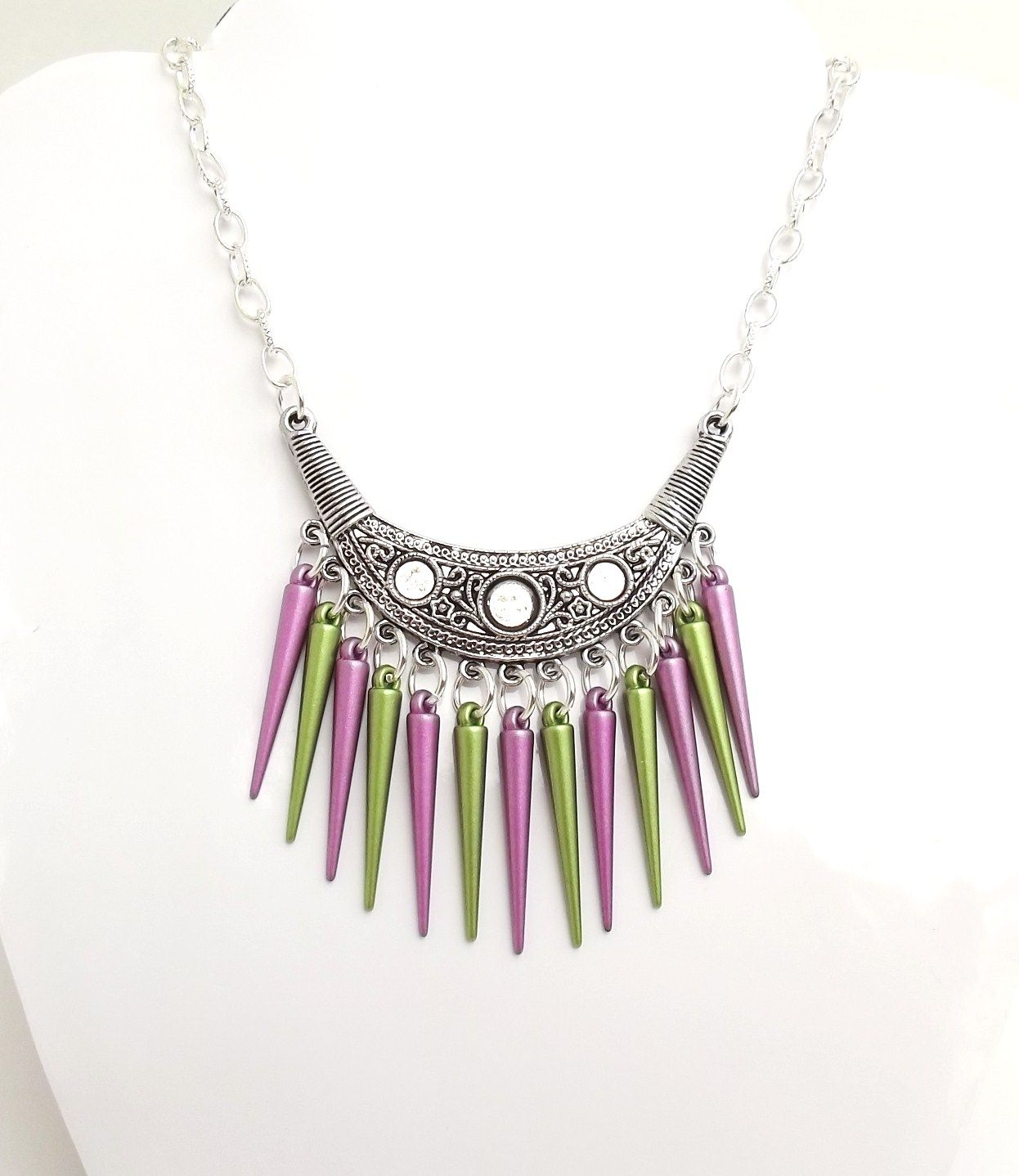 Spikey Necklace  £10.00  http://www.facebook.com/JewelleryByM.E#!/JewelleryByM.E