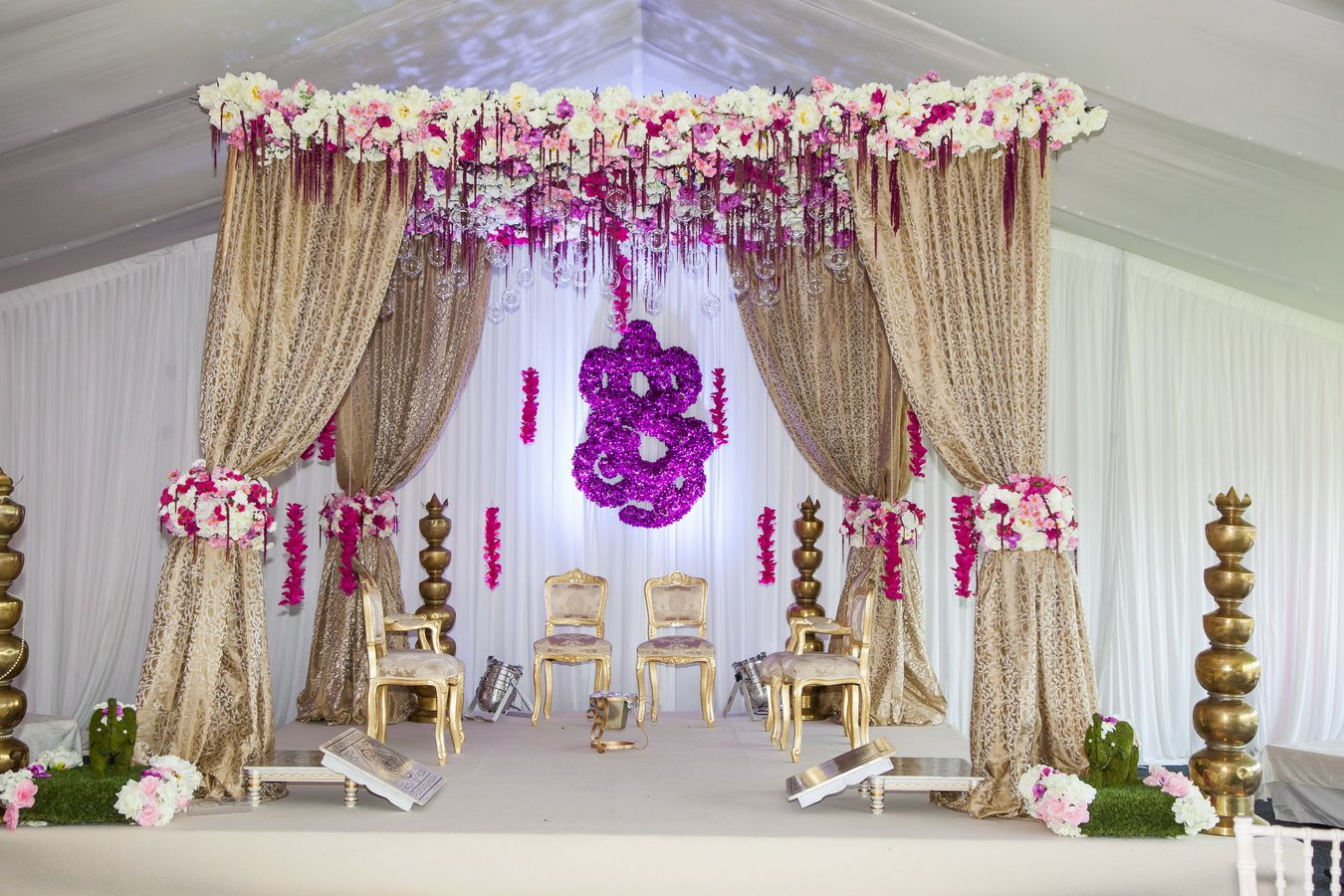 mandap inspiration for indian wedding decorations in the bay area