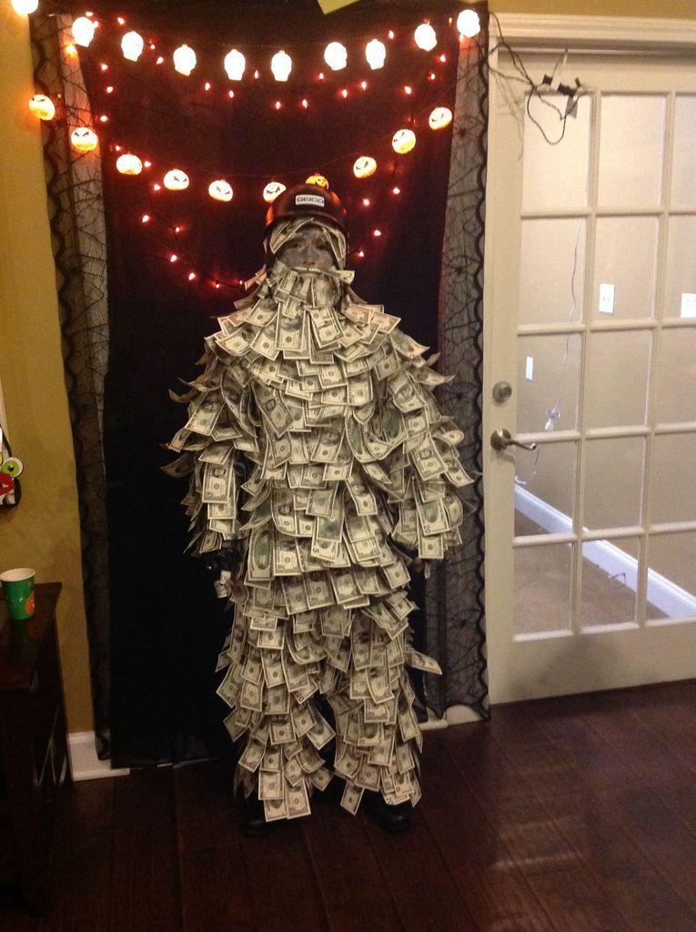 Geico Made of Money Man Costume Costumes, Halloween costumes and - homemade halloween costume ideas men