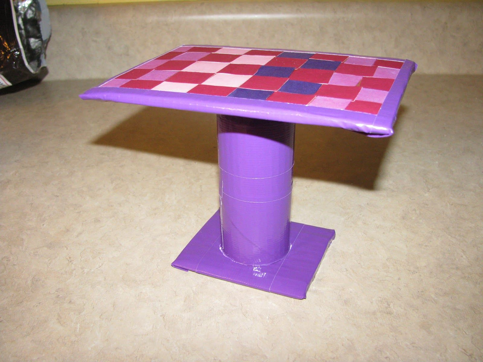 homemade barbie furniture ideas. Homemade Barbie Furniture | The Dining Table Is Also Just Cardboard, Duct Tape, Toilet Paper Tube . Ideas