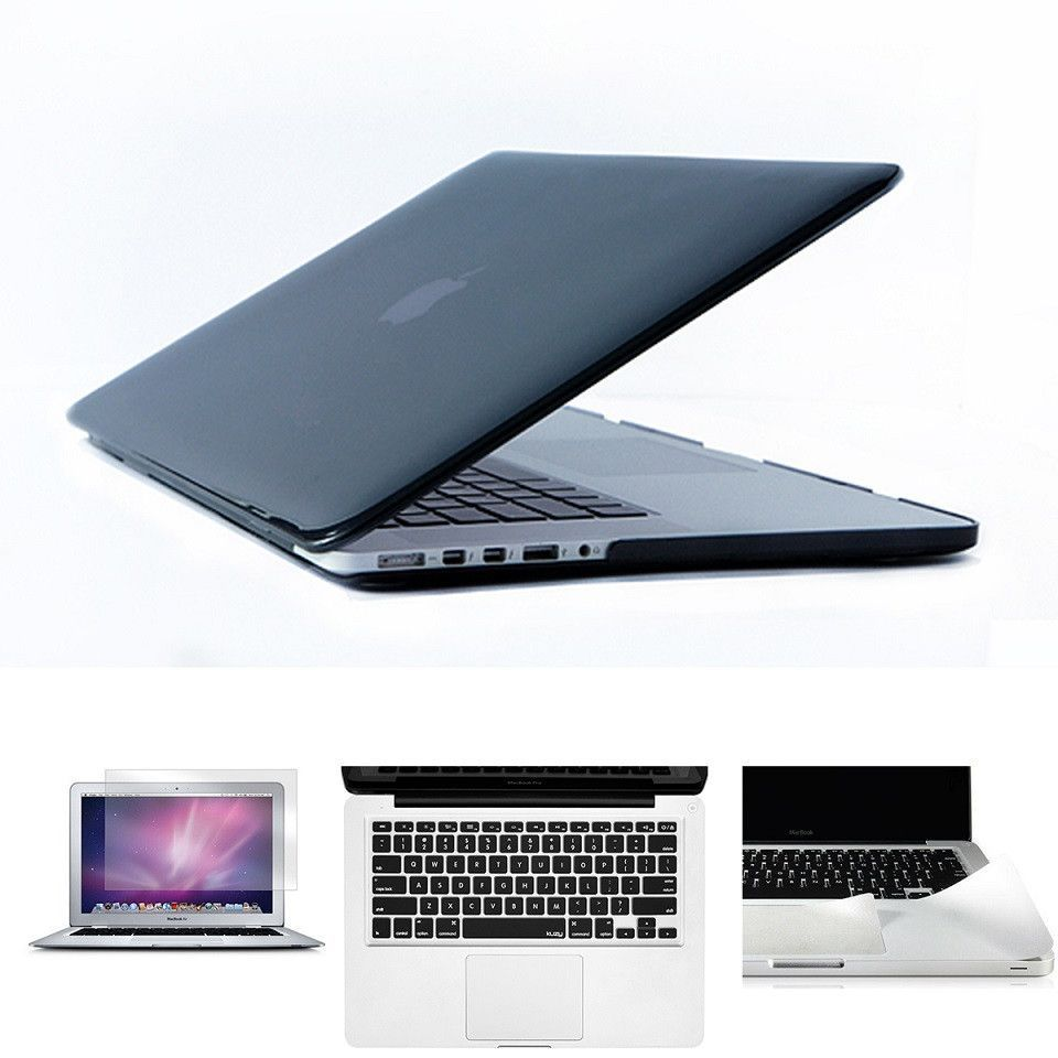 Crystal Clear Case For Macbook Air Pro Retina 11 12 13 15 Laptop Bag For Mac Book Case + Keyboard Cover + Screen Protector+Guard