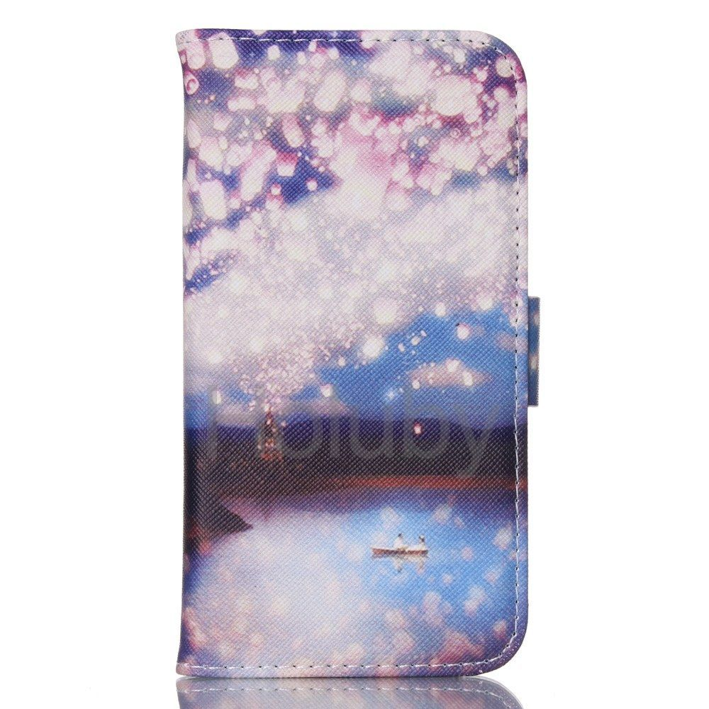 Special Design Double Sides Pattern Magnetic Flip Stand PU Leather Case for Samsung Galaxy S6 G9200 Blessing of Light