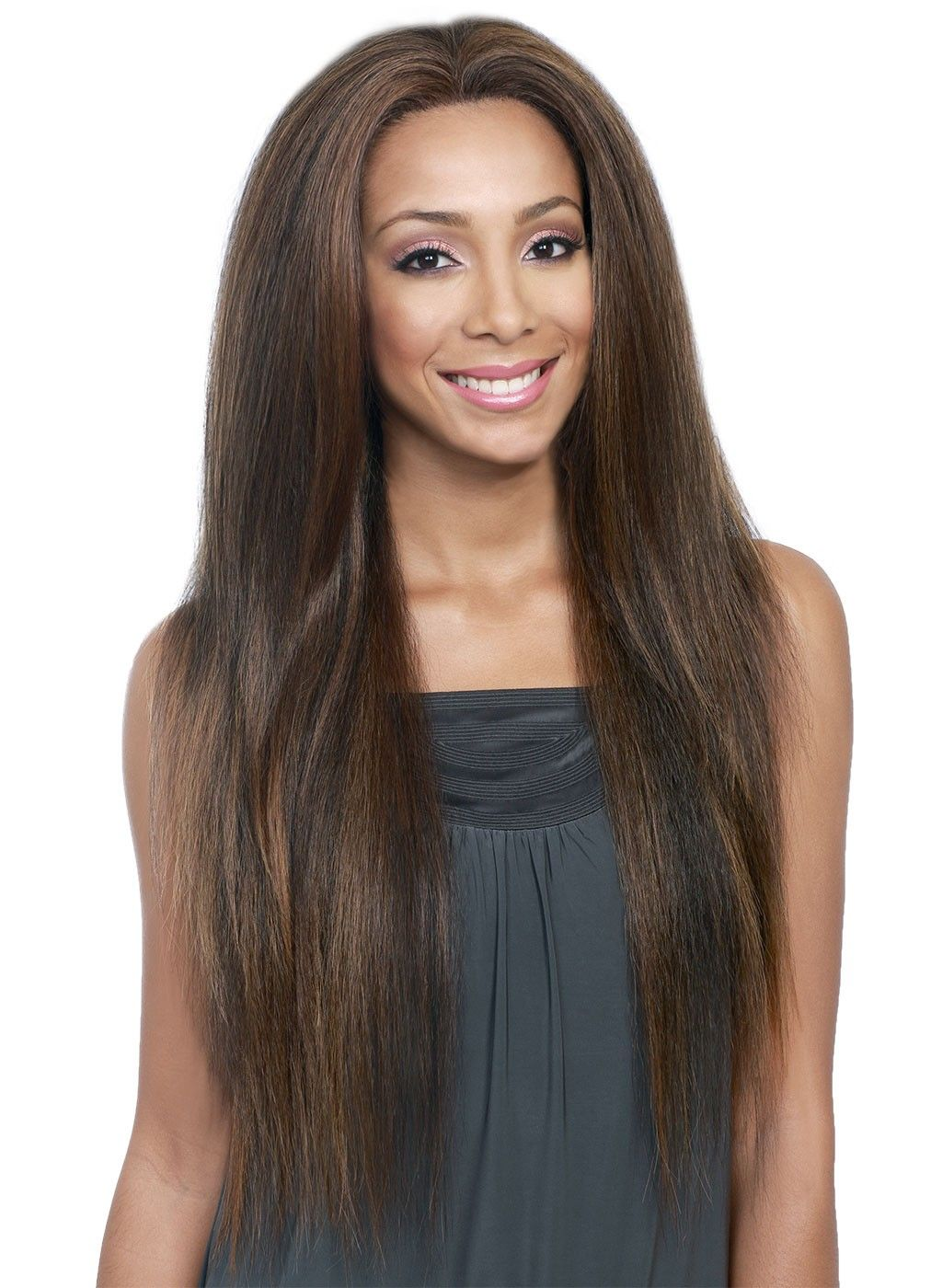 Bobbi boss lace front wig human hair blend mina with