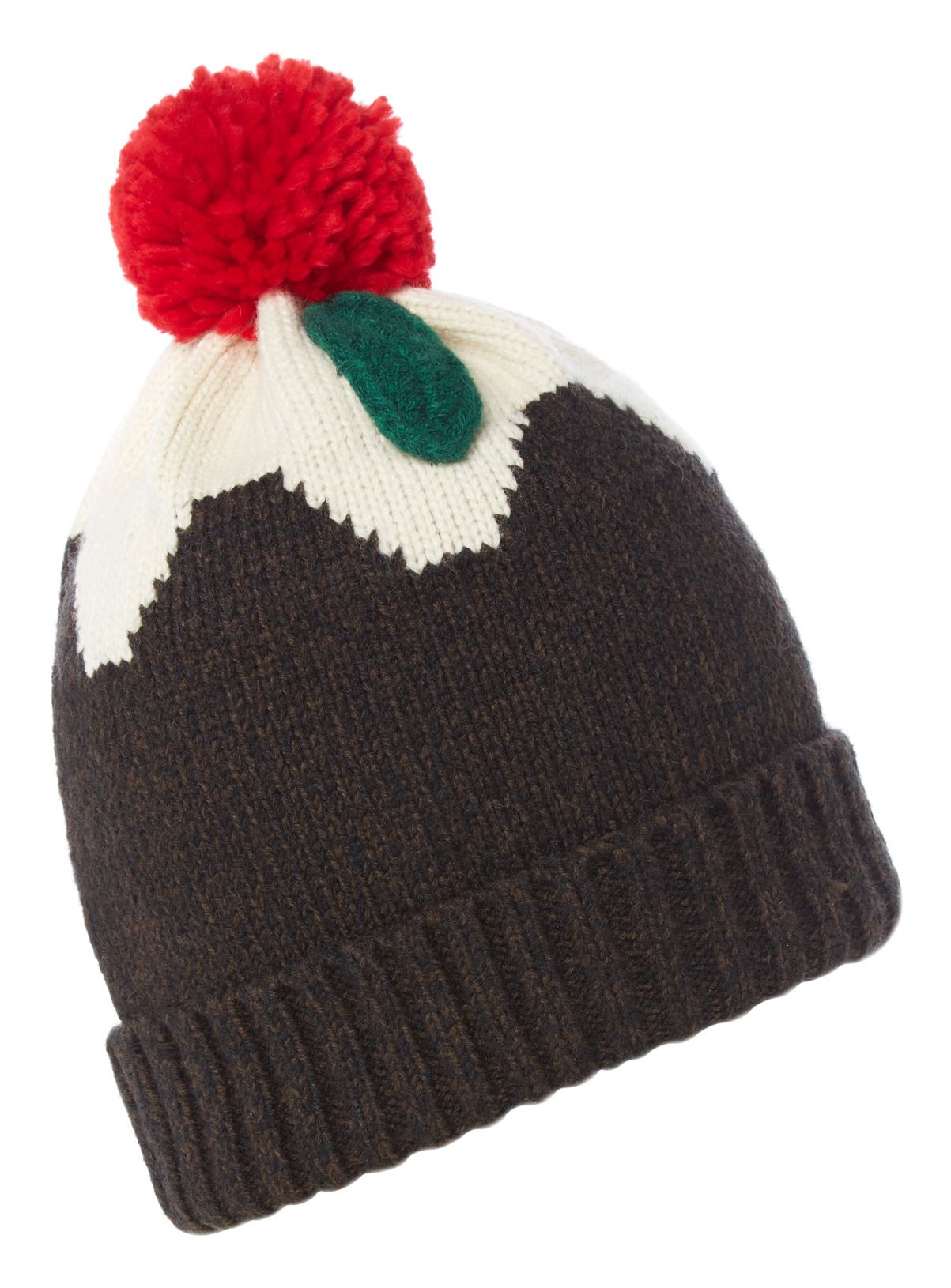 Sku Xmas Pudding Hat Brown Christmas Pudding Xmas Pudding Pom Pom Tops
