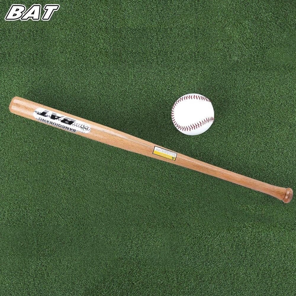 Bat Outdoor Sports Kitty Ball Solid Wood Baseball Bat Fitness Equipment Earthy 3p14796214 Size 63cm Baseball Bat Baseball No Equipment Workout