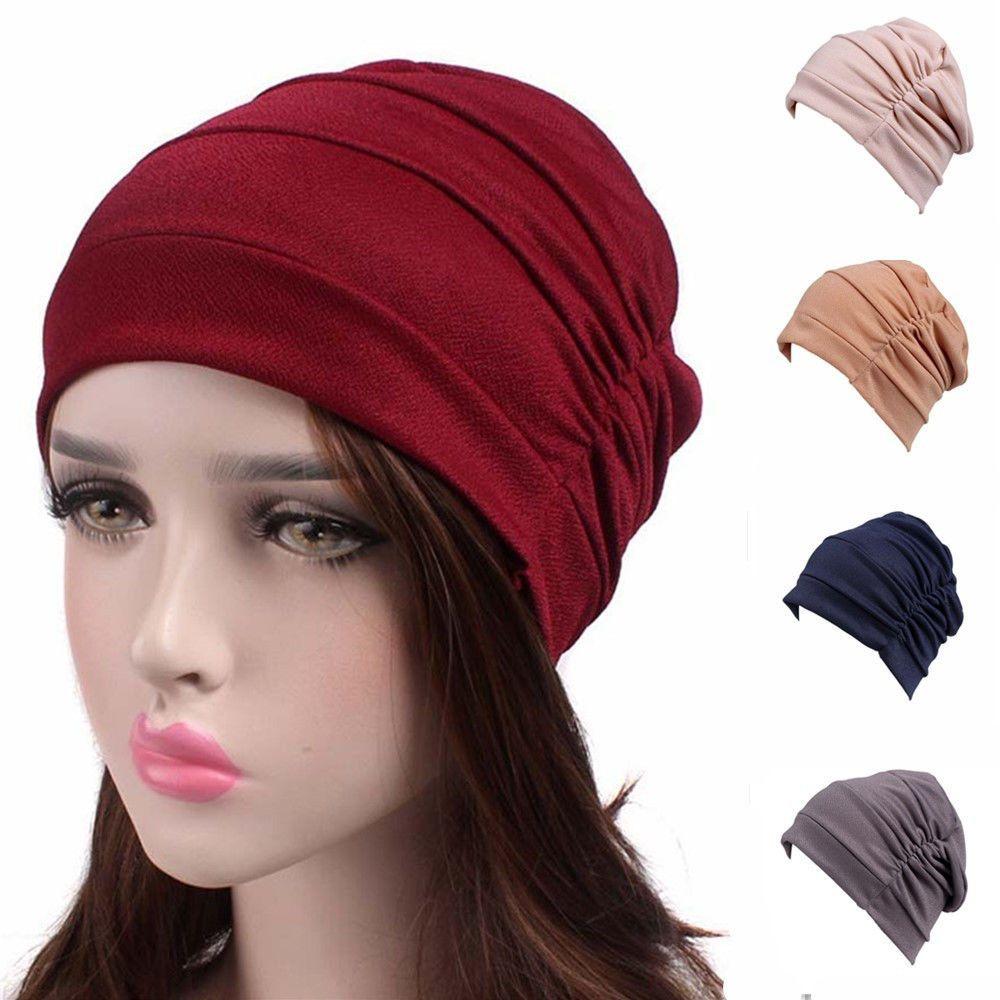 487171ae9ff Ladies Muslim Indian Hat Turban Cancer Chemo Hair Loss Cap Headwrap Scarf