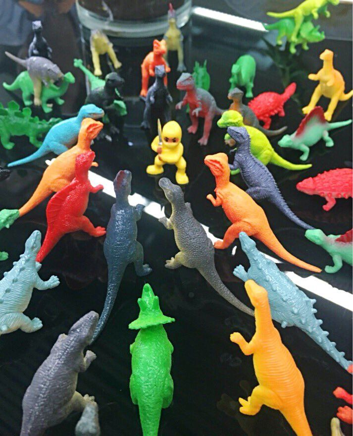 @mdjubairahmedhr : DigitalMktr : These plastic dinos magically appeared in our office today. Will the ninja m https://t.co/TKEqSx2GiJ) https://t.co/YfCusiFwCE