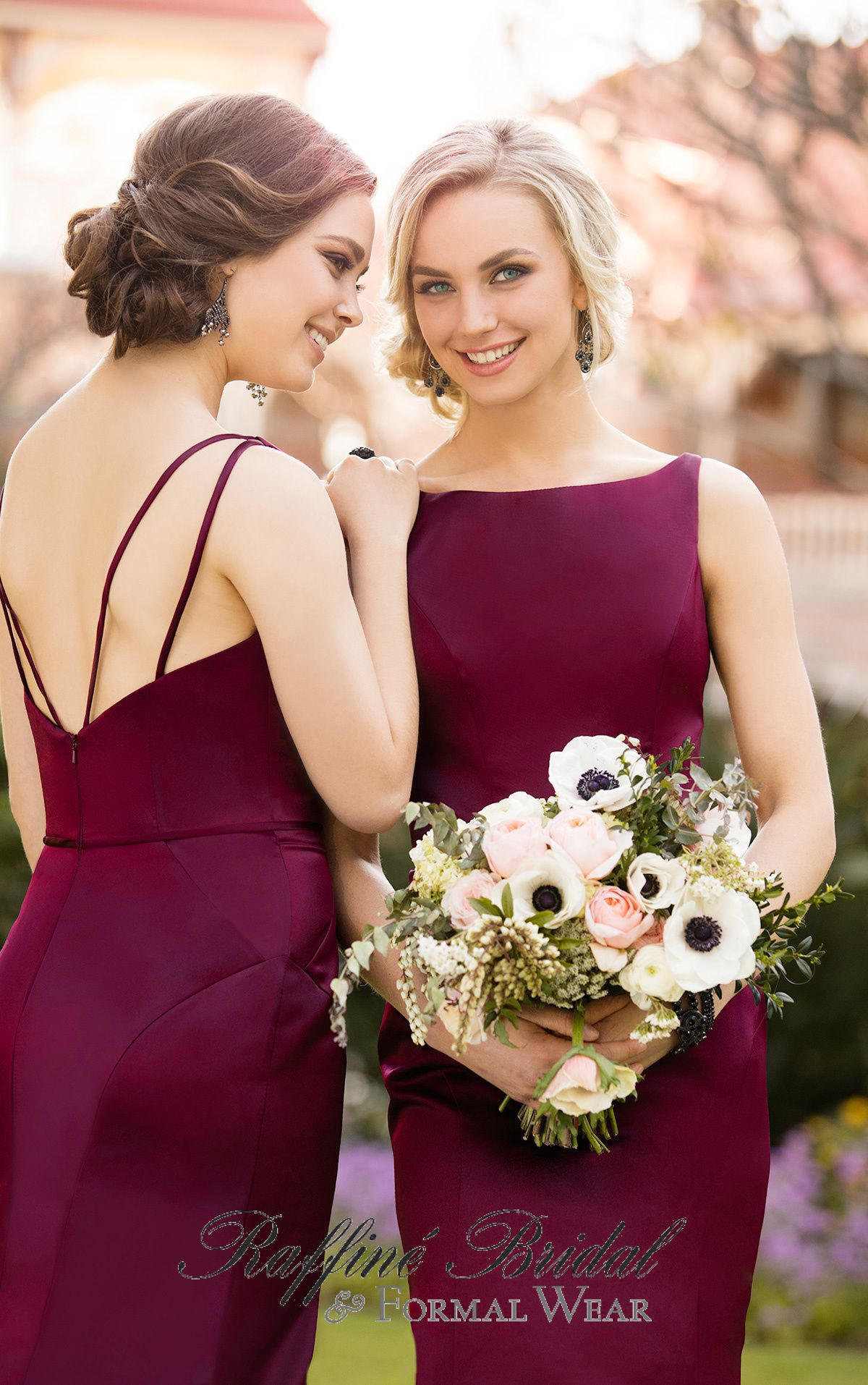 2d7201fd020 Sorella Vita  8918 - Sophisticated satin bridesmaid dress with a batueau  covered neckline