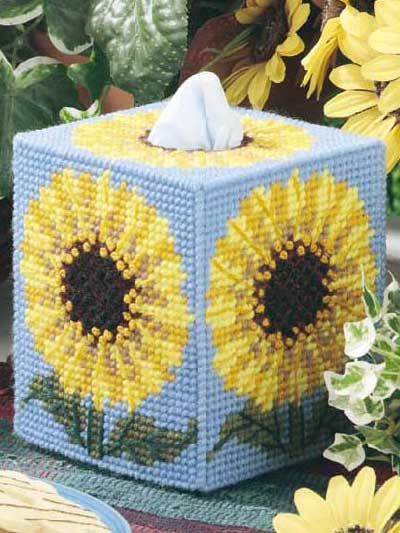 Diy Needlepoint Tissue Box Cover Plastic Canvas Patterns