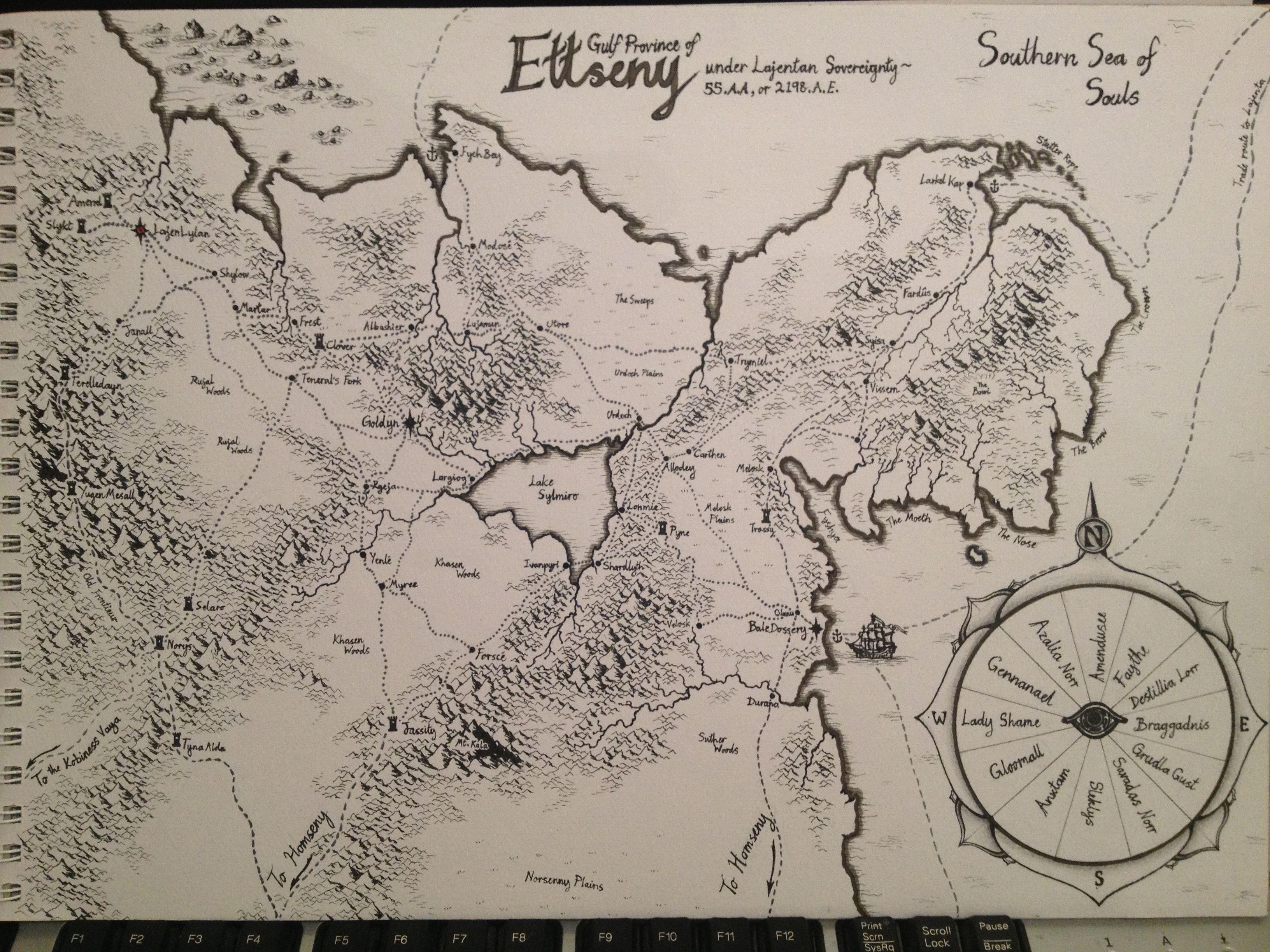 Fantasy map The province of Ettseny completely