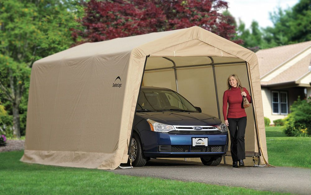 Shelter logic garage in a box 10x15x8 instant auto car for Garage credit auto 0