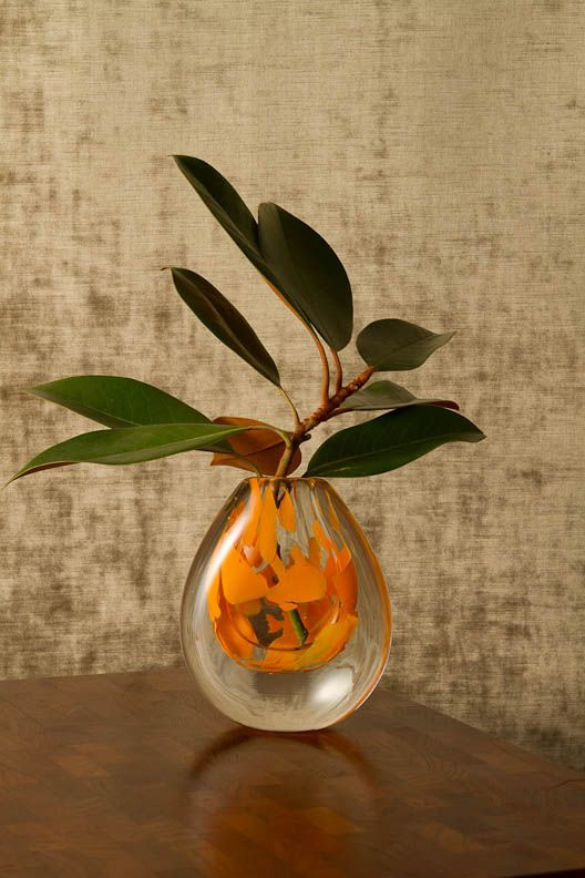Bubble Vase Handblown Glass Mazel Tov Glass Wedding Glass