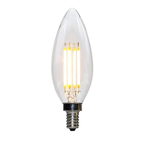 Leideal Led Filament Candelabra Bulbs E12 B10 4w Led Candle Bulbs Dimmable Led Bulbs Candelabra Base Daylight Candelabra Bul Candle Bulbs Candelabra Bulbs Bulb