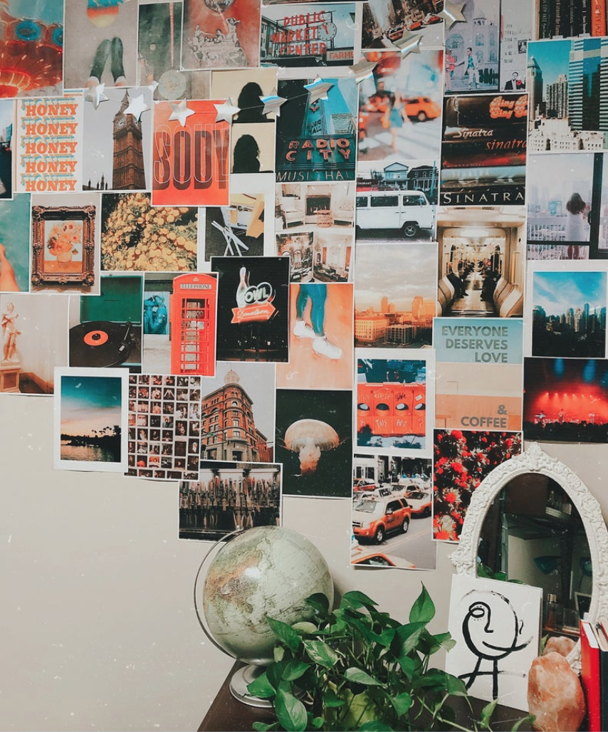 College Wall Art Art Collage Wall Bedroom Wall Collage Photo Collage