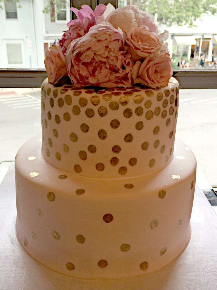 shabby chic bridal shower cakes%0A Blush sparkle cake from a pink and gold bridal shower party  See more party  planning