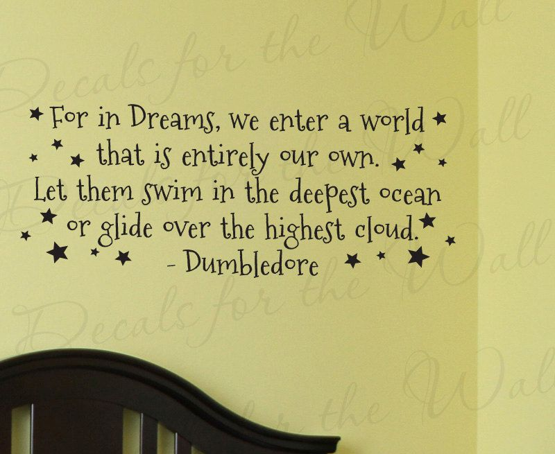 Dumbledore harry potter girl or boy room kid baby nursery for Large wall letters for nursery