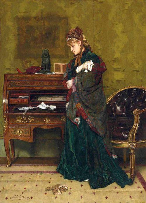 The Letter - Alfred Stevens (belgian -  19th century)