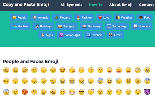 5 Sites to CopyPaste Emojis, Text Faces, Emoticons