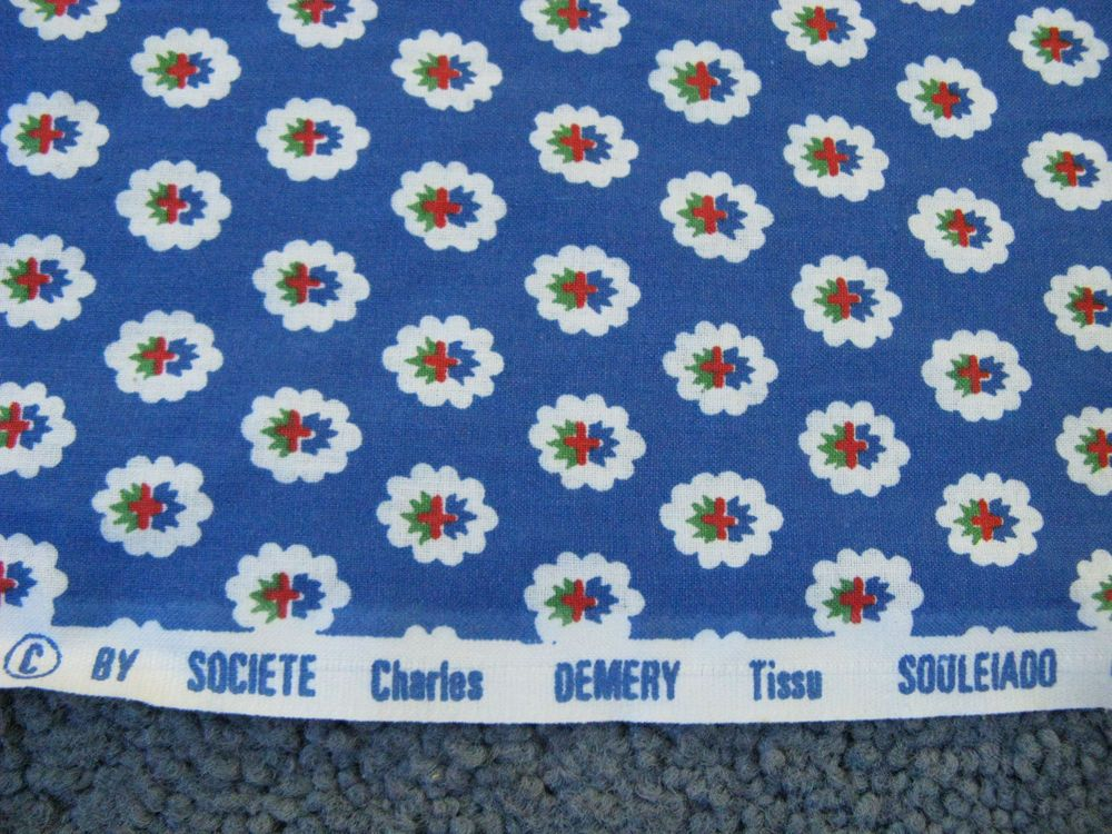"""French Provence 2/"""" Wide French Border Cotton Fabric Trim BTY"""