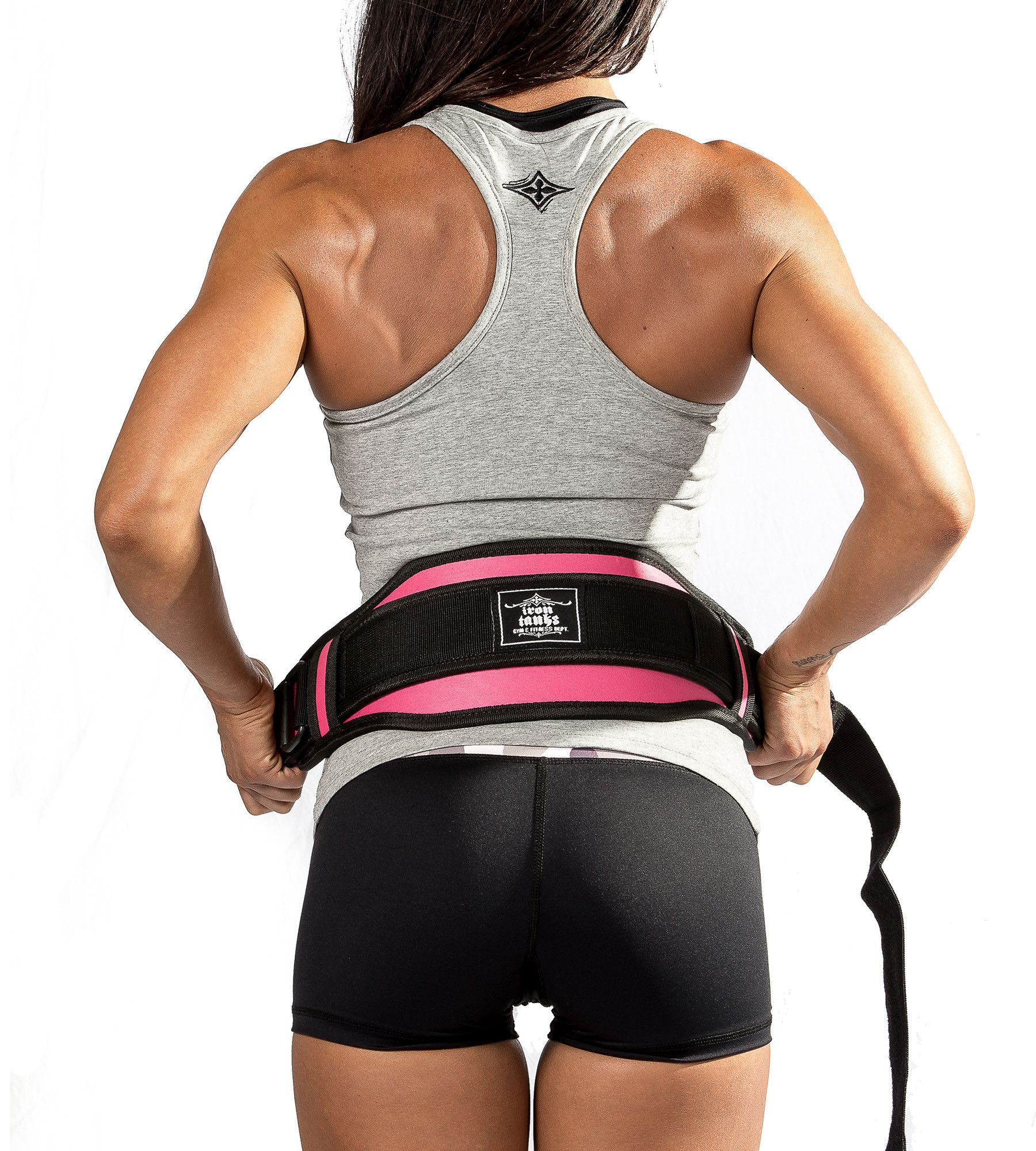 Neoprene 6 Weightlifting Belt  Pink Iron Tanks