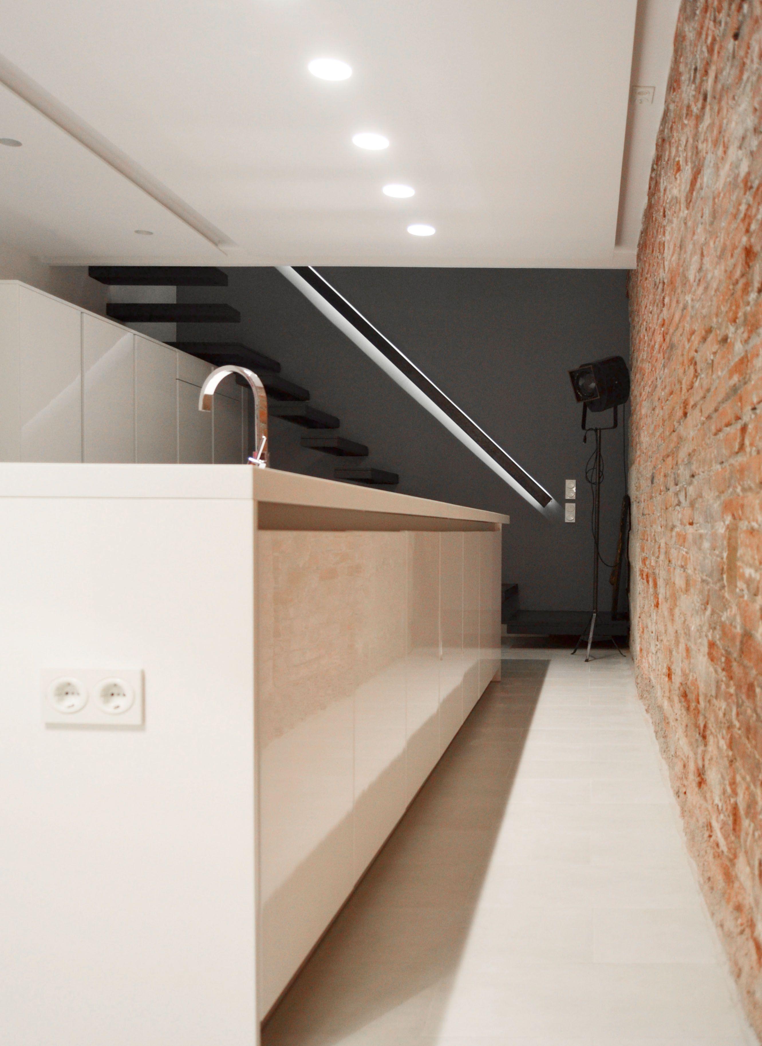Ladrillo Loft cocina y muro de ladrillo loft barcelona 08023 arquitectos