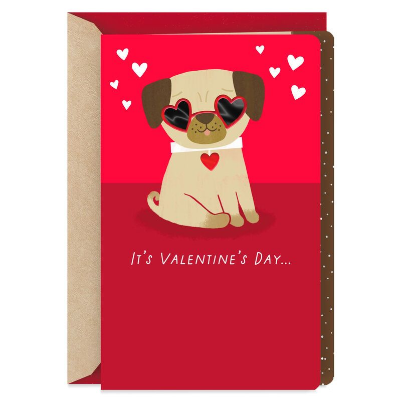 Pugs And Kisses Valentine S Day Card Pugs Kisses Valentines