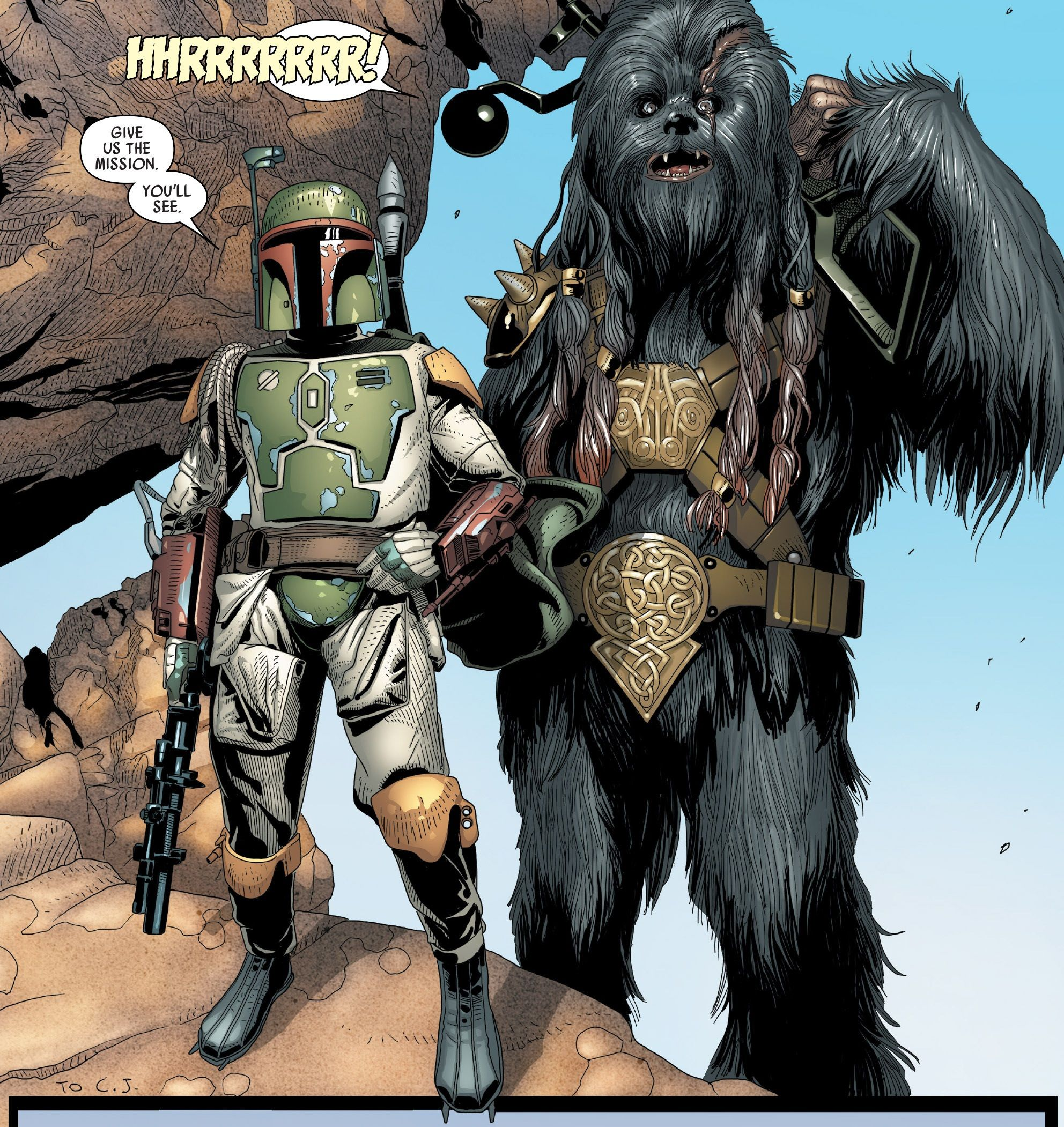 boba fett ,Black Krrsantan | Star wars comics, Star wars ...