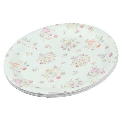 Pretty and Soft Floral Paper Plate  sc 1 st  Pinterest & Pretty and Soft Floral Paper Plate | Paper Plates and Napkins ...