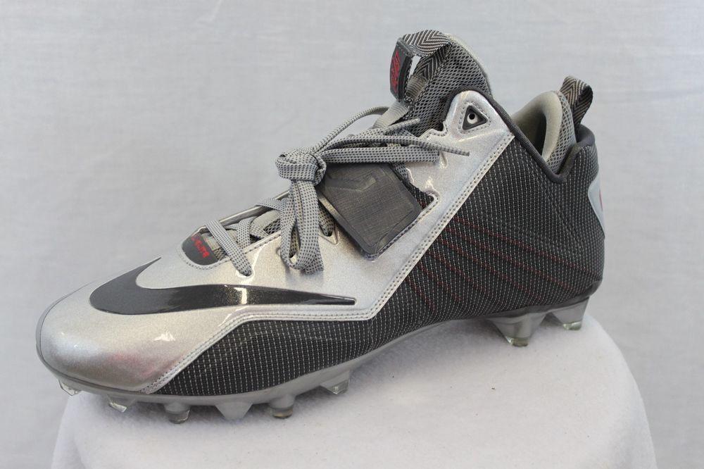 b0954ae41 Nike Men s CJ Elite 2 TD Football Cleats 14 Silver MSRP  100 NEW FREE SHIP   Nike  Cleats