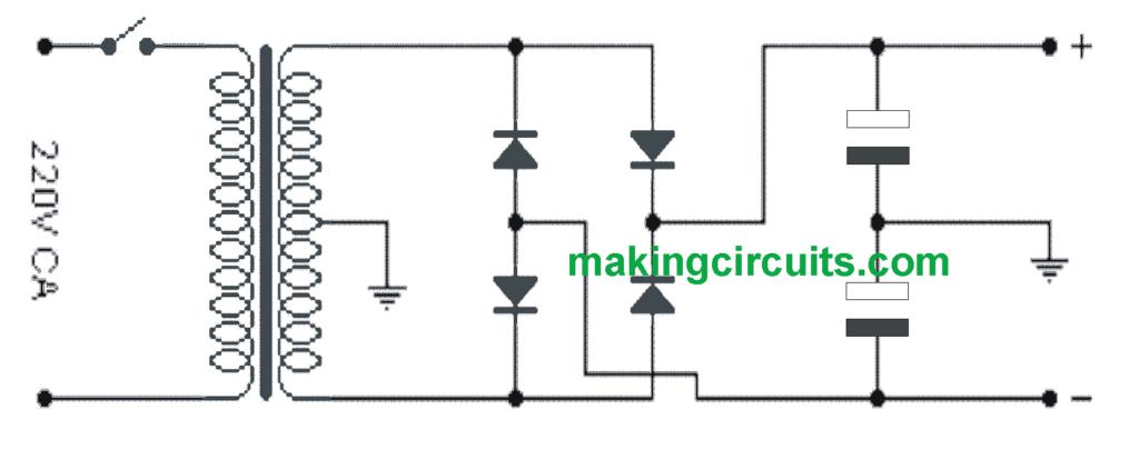 Simple 300 Watt Power Amplifier Circuit using Transistors