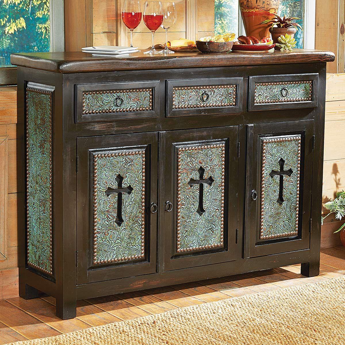 Turquoise Santa Cruz Cross Cabinet maybe I can make one similar….so ...