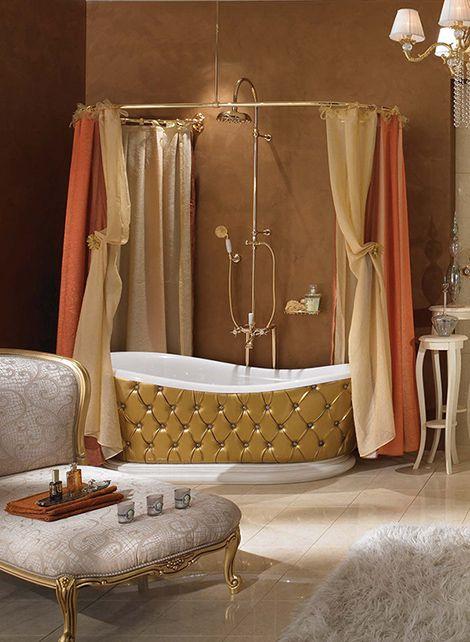 Elegância na hora do banho.