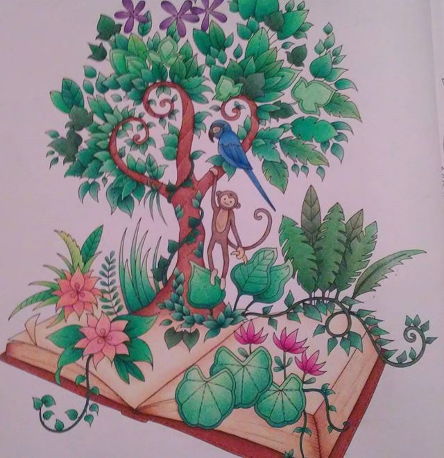 Jungle book :) #magicaljungle #magicaljunglecoloringbook #johannabasford…