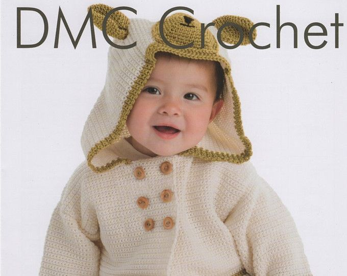 DMC (15327L/2) oso de peluche con capucha chaqueta Crochet patrón ...