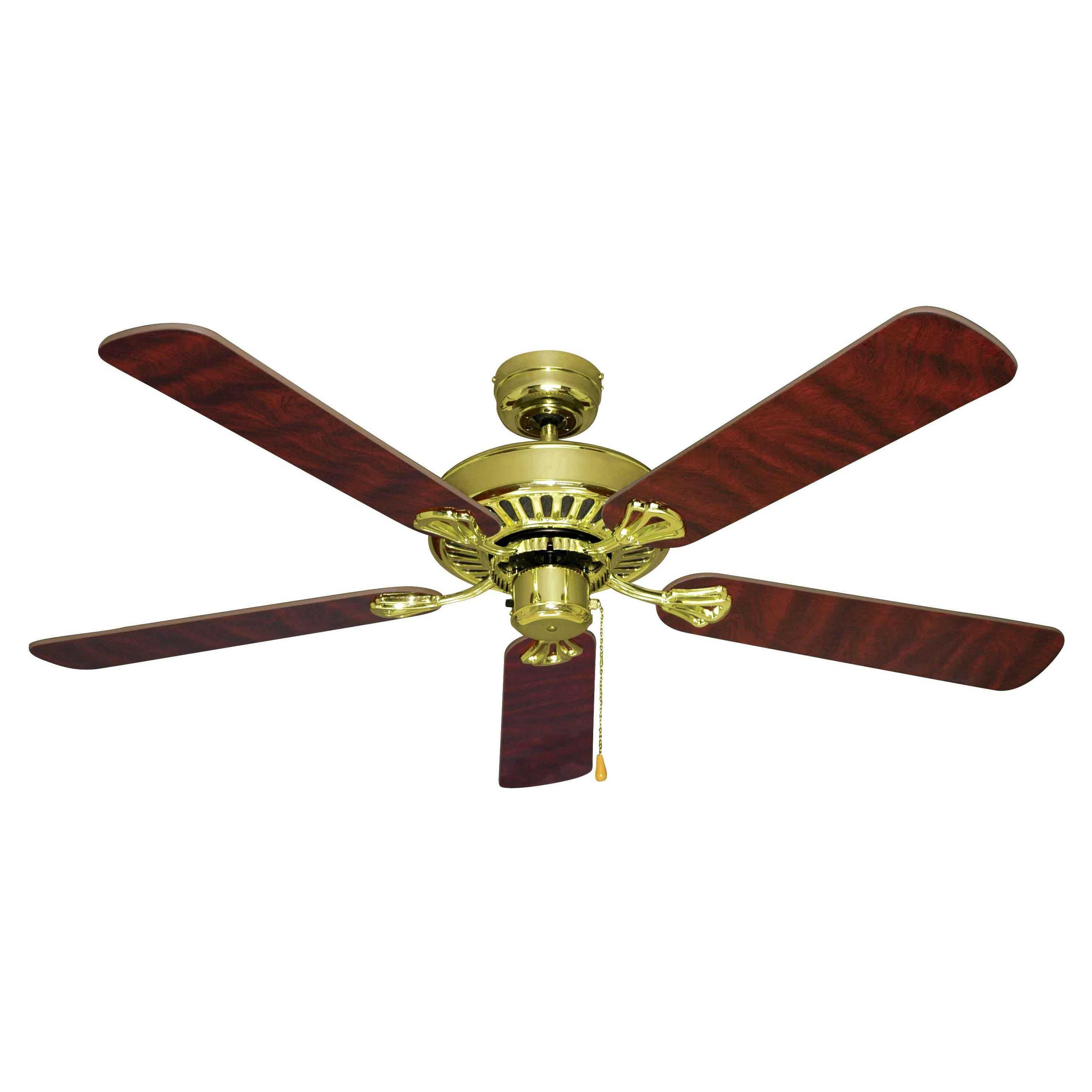 Mercator Hayman 52 5 Blades Ceiling Fan Antique Brass