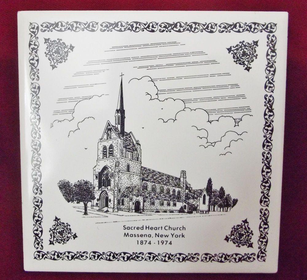 Sacred Heart Catholic Church Ceramic Tile 100th Year