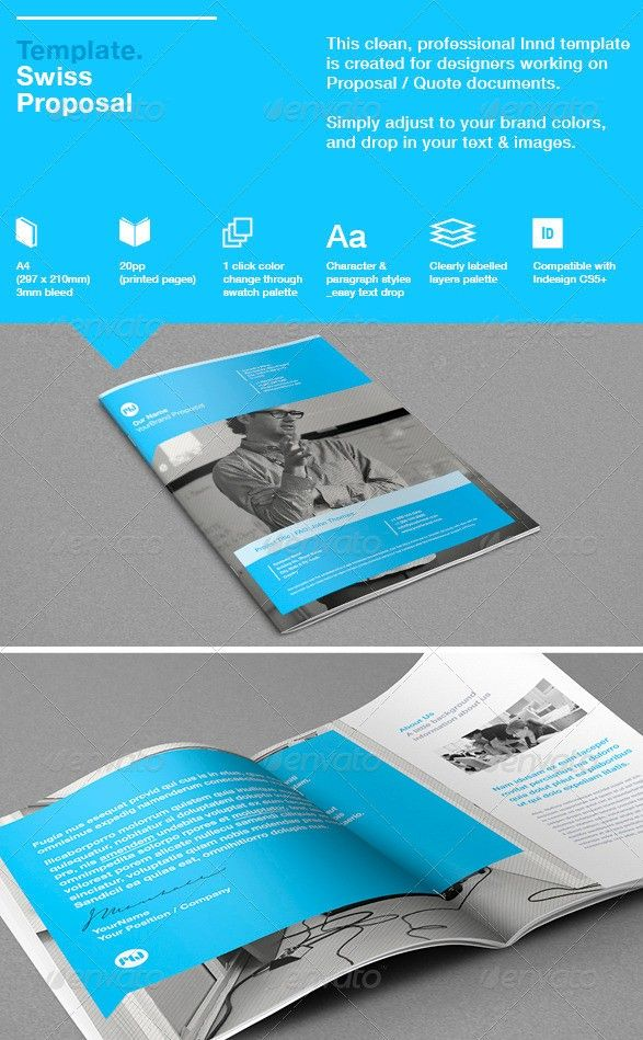 Ms Word Proposal Template 55 Best Business Proposal Templates In Indesign Psd & Ms Word .