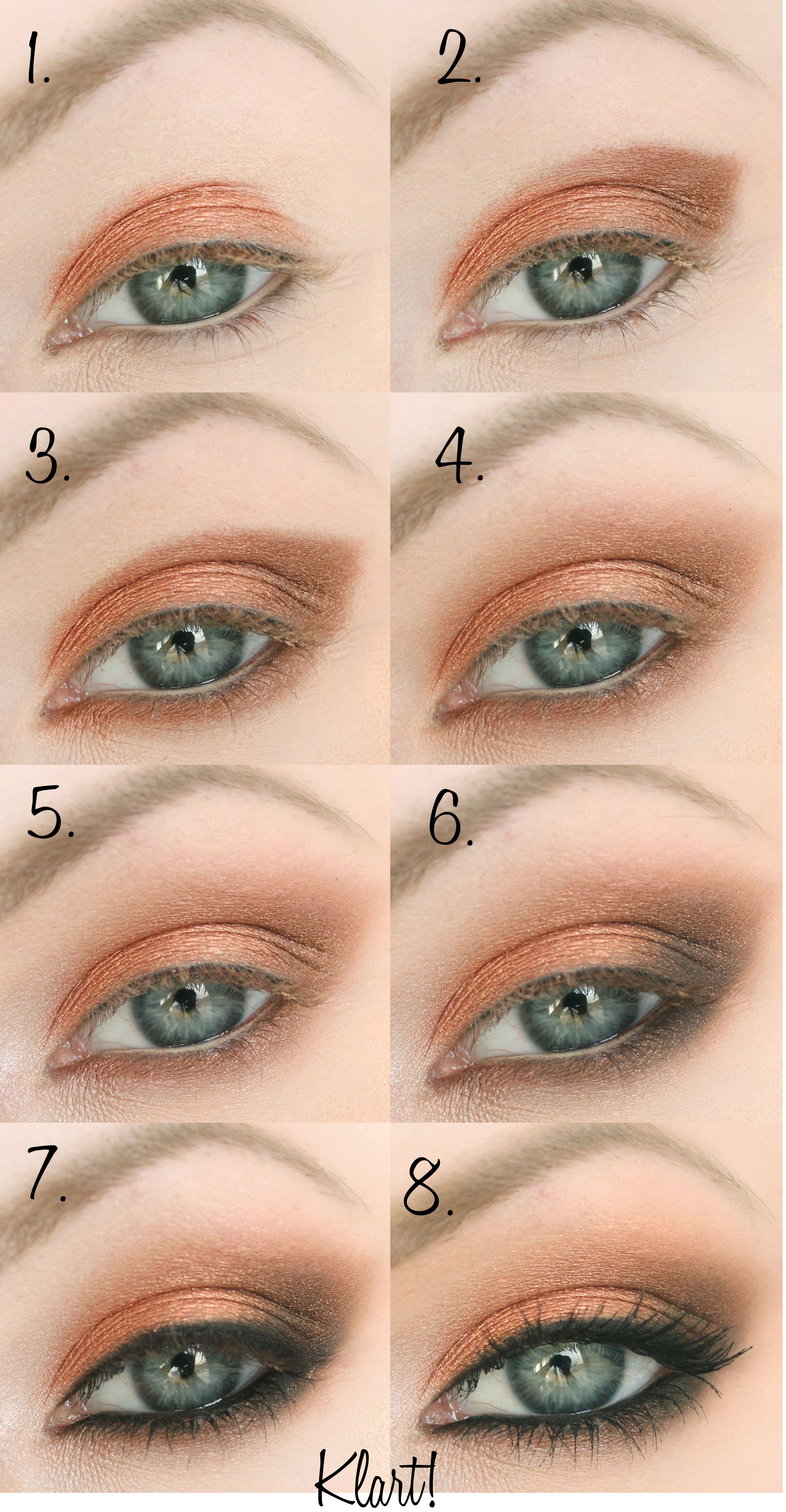 Step by step eye makeup pics my collection jennifer lawrence step by step eye copper eye makeup tutorial for beginners baditri Choice Image